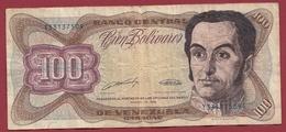 Venezuela 100 Bolivares Du 16/08/1989  Dans L 'état - Venezuela
