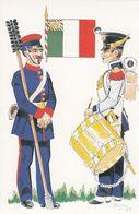 Battaglione Fuclieri Pontifici Chiavacci 1848 Italy War Uniform Postcard - Schleswig-Holstein
