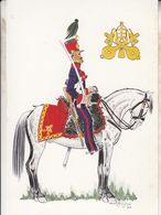 Cacciatori Pontifici E Cavalio 1848 Italy War Uniform Postcard - Schleswig-Holstein