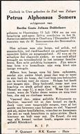P.SOMERS °HONTENISSE 1904 +OOSTBURG 1951 (B.DOBBELAERE) - Devotion Images