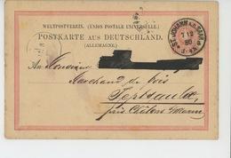 TIMBRES - ALLEMAGNE - POSTKARTE AUS DEUTSCHLAND - Carte écrite à ST. JOHANN A.d.Saar En 1880 à Marchand De CHALONS S/MAR - Allemagne