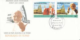 TCHAD FDC 1990  VISITA S.S JEAN PAUL II - Ciad (1960-...)