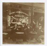 E193 Photographie Originale Absinthe Pontarlier Pernod Café Terrasse Vers 1900 Alcool - Photographs