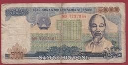Viêt -Nam 5000 Dong 1987/1989 Dans L 'état - Vietnam