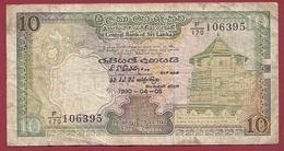 Sri Lanka 10 Rupees Du 05/04/1990 Dans L 'état - Sri Lanka