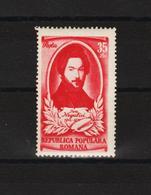 1951 - Peintre Ioan Negulici Michel No 1262 Et Yv No 1151 MNH - 1948-.... Republiken