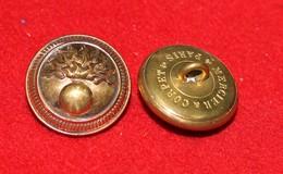 Lot De 2 Boutons Officier Infanterie Dia 22 Mm - Buttons