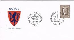 35621. Carta F.D.C. OSLO (Norge) Noruega 1969. Olav V, King - FDC
