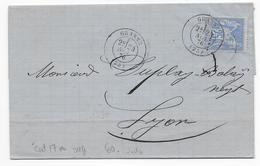 DROME - 1876 - SAGE - LETTRE De GRANNE Avec T17 => LYON - 1849-1876: Période Classique