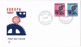35622. Carta F.D.C. OSLO (Norge) Noruega 1967. Theme EUROPA - FDC