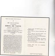 E.DE TAEYE °KAPRIJKE 1876 +1954 (L.DOBBELAERE) - Devotion Images
