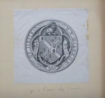 Ex-libris Héraldique Illustré XIXème - H.V. MILBANK - Ex-libris