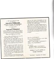 A.DOBBELAERE (J.MAENHOUT ) °OOSTKERKE 1897  & P.MAENHOUT °WATERVLIET 1921  +1957 - Devotion Images