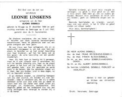 L.LINSKENS °BRUGGE 1884 +ZEEBRUGGE 1963 (A.DOBBELS) - Devotion Images