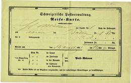 """1851, Reiseschein """" Aarau """" , A3046 - Schweiz"""