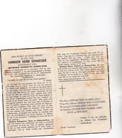 H.DEMAECKER °ZEEBRUGGE 1903 +BRUGGE 1957 (H.DOBBELAERE) - Devotion Images