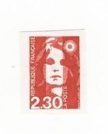 Briat 2fr30 Rouge YT 2614 : Faux De Seine Et Marne , Non Dentelé Et Sans Phosphore + Normal ND . Rare , Voir Les Scans . - Varieties: 1980-89 Mint/hinged
