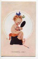 ILLUSTRATEUR 0069 Marie Lucie  ATWELL  Wonderful One Fillette Nue Se Regardant Dans Miroir  - No 973 Valentines Atwell - Attwell, M. L.
