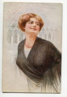 ILLUSTRATEUR 0084 GUERZONI Jeune Femme Au Chale Italie - A Scrochi 2708-5 - Autres Illustrateurs