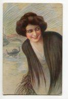 ILLUSTRATEUR 0085 GUERZONI Jeune Femme Au Chale  Venise Italie - A Scrochi 2708-4 - Autres Illustrateurs