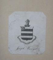 Ex-libris Héraldique Illustré XIXème - JOSEPH MARRYAT - Ex-libris