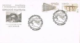 35625. Carta ALCANAR (Tarragona) 1993. Pont Del Entretets. Tematica PUENTES Y Acueductos - 1931-Hoy: 2ª República - ... Juan Carlos I