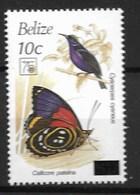 BELIZE 1994 BUTTERFLIES, Birds - Schmetterlinge