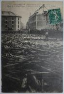 BESANCON Inondations De Janvier 1910 Pont De La République Amoncellement Des Bois Sur Le Canal - Besancon