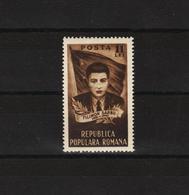 1951 - 10 Anniv. De L Execution De Filimon Sarbu Mi No 1267 Et Yv No 1155 MNH - Ungebraucht