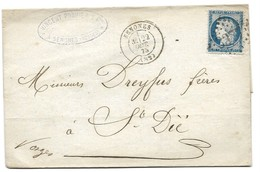 145 - 94 - Lettre Envoyée De Senones 1875 - 1871-1875 Cérès