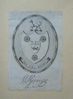 Ex-libris Héraldique Illustré XVIIIème - W. YONGE - Ex-libris