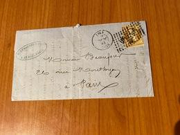 LETTRE DU 16 JUILLET 1861- Pc 367  BERCY -  Double Oblitération  ( Port Offert ) - 1849-1876: Klassieke Periode
