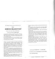 E.BRAECKEVELT °KANEGEM 1870 +1965 (M.DOBBELAERE) - Devotion Images