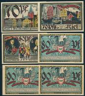 NOTGELD / KIEL   -   1921   -   6  Notgeldscheine  -   Ungebraucht - Lokale Ausgaben
