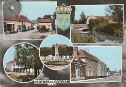 77 - Carte Postale Semi Mi Moderne Dentelée De  PERTHES EN GATINAIS    Multi Vues - Other Municipalities