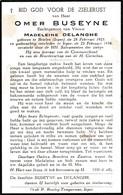 O.BUSEYNE °BRIELEN (IEPER) 1925 + 1954 (M.DELANGHE) - Devotion Images