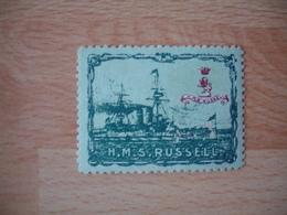 Erinnophilie Bateau Guerre H M S Russell Vignette Timbre - Commemorative Labels
