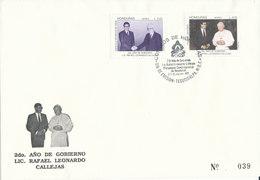 HONDURAS FDC 1992 S.S JUAN PABLO II - Honduras