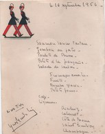 MENU / Saint Cyr/ Saints Cyriens Défilant / Avec Dédicaces/ 1956          MENU303 - Menus