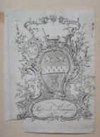 Ex-libris Héraldique Illustré XVIIIème - PATRICK KINCAID - Ex-libris