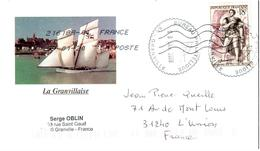 Enveloppe Illustrée La Granvilllaise - Cachet Bureau Philatélique Granville 09/01/20 - Postmark Collection (Covers)