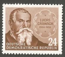 East Germany/DDR. 1953 The 400th Anniversary Of The Death Of Lucas Cranach.  SG E142. CV £4.00. MNH - [6] Repubblica Democratica