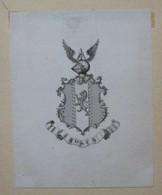 """Ex-libris Héraldique Illustré XVIIIème - COLEMAN ? Avec Devise """"ADSUM"""" - Bookplates"""