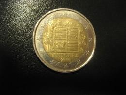 2 EUR 2015 ANDORRA Bi-metallic Coat Of Arms Normal Condition Euro Coin - Andorra
