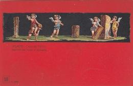 POMPEI (3) - CASA DIE VETTII, Engel, Alte Künstlerkarte Ungelaufen - Engel