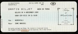 Speciaal Treinticket NMBS / ROYALTY / Huwelijk / Mariage / Philippe & Mathilde / Koningshuis / Famille Royale - Chemin De Fer
