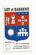 Autocollant , LOT ET GARONNE ,maison Du Lot Et Garonne , Paris 2 E - Autocollants