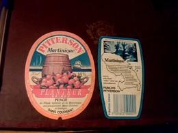 """étiquette X 2 Punch """" Planteur Gringo """" Pitterson Martinique St Étienne & Orange - Rhum"""