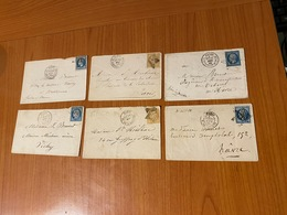 LETTRES OBLITERATION ETOILE DE PARIS -  Lot De 6 Letrres  ( Port Offert ) - 1849-1876: Période Classique