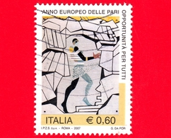 ITALIA - Usato - 2007 - Anno Europeo Delle Pari Opportunità Per Tutti - Trazione Fatale, Opera Di G.da Por - 0.60 - 6. 1946-.. Repubblica